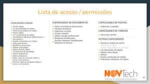 lista de acesso ged docushare flex